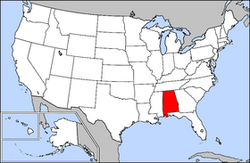 Alabama United States Map.United States Senate Special Election In Alabama 2017 Ballotpedia